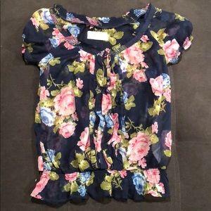 Size L A&F floral shirt